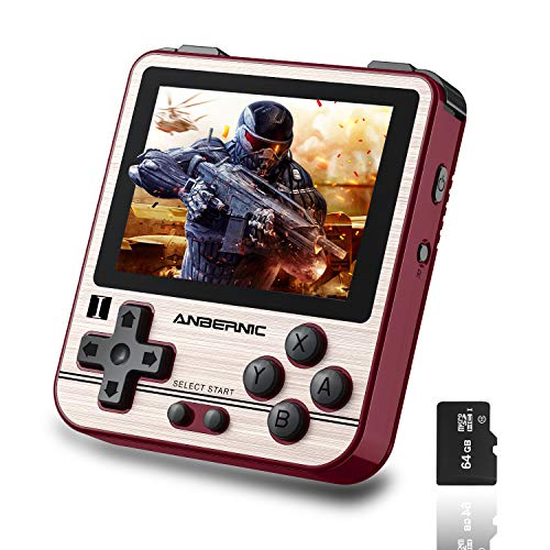 BAORUITENG RG280V Handheld Game Console with Opening Linux Tony System 64Bit 2.8inch IPS Screen , Retro Game Console with 64 TF Card 5000 Classic Games Portable Video Game Console