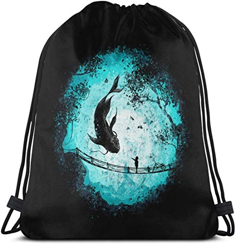 Eevee Vaporeon Drawstring Bag Sport Gym Bapas Storage Goodie Cinch Bags