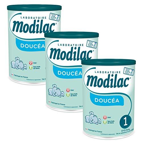 Laboratoire Modilac - Lait Infantile en Poudre Doucéa 1er âge - 0-6 mois - 820g - Lot de 3