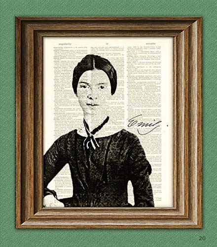 Emily Dickinson Max 50% OFF Print Rapid rise Poet Illustration Dictiona Writer Upcycled