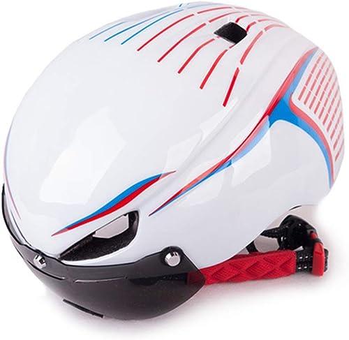 ArougeOVL Casque de sécurité pour Casque d'équitation de Bicyclette adapté aux Amateurs de vélo (Couleur   blanc)