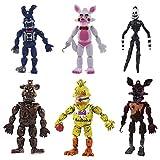 BSTQC 6 figuras de acción de juego caliente, juguetes de muñecas, regalos de Navidad, decoración de tartas, adornos de regalo para fans de juegos, adornos
