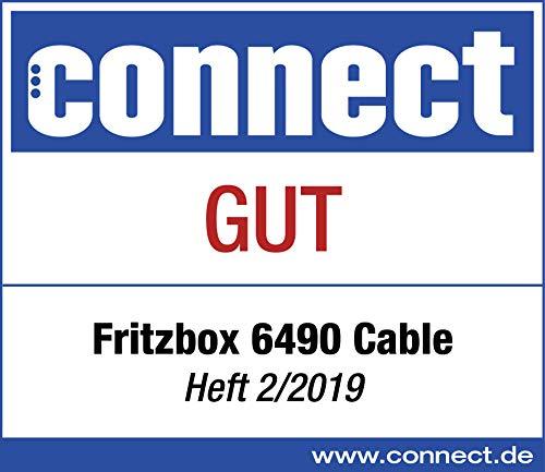 AVM FRITZ!Box 6490 Cable WLAN AC + N Router (DOCSIS-3.0-Kabelmodem für Kabelanschluss, bis 1.300 Mbit/s (5 GHz) VoIP-Telefonanlage, DECT-Basis)
