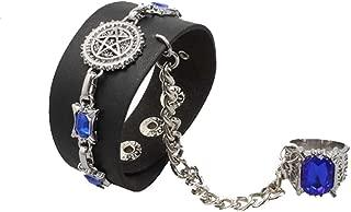 Anime Black Butler Leather kuroshitsuji Alloy Bracelet And Ring
