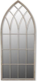 Anself Gothic Arch Garden Mirror 115x50cm for Both Indoor and Outdoor Use