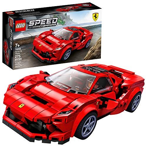 LEGO Speed Champions 76895 Ferrari F8 Tributo Toy Cars for Kids, Building Kit Featuring Minifigure,...