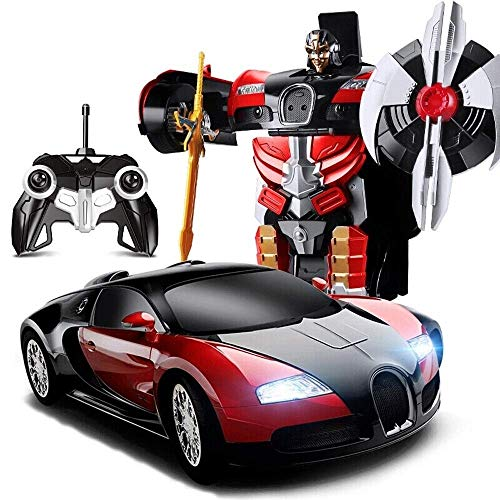Sale!! Woote Kids RC Vehicle Autobot Toy Induction Transformer Wireless Remote Control Car Transform...