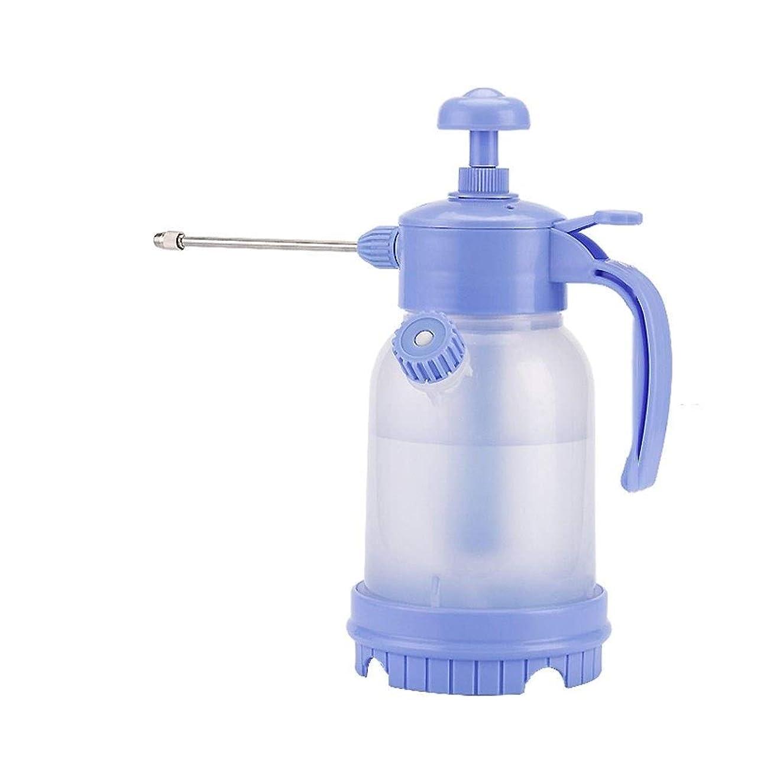 貞狂信者借りる植物の水まき缶 高圧じょうろ家庭用じょうろ、じょうろの水まき圧力小型屋内噴射圧力ポットボトルスプレー、ガーデンツール(青、1.2L) ガーデニングツール