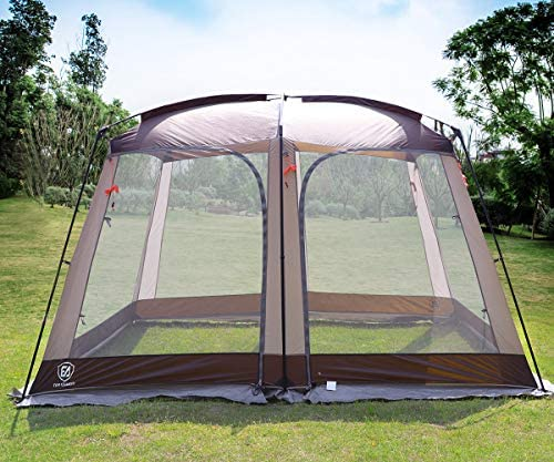 EVER ADVANCED Screen House Room Outdoor Screened Canopy Tent Zippered Pop Up Gazebos 8 10 Person product image
