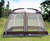 EVER ADVANCED Screen House Room Outdoor Screened Canopy Tent Zippered Pop Up Gazebos 8-10 Person for Patios Shelter, 12' x10'
