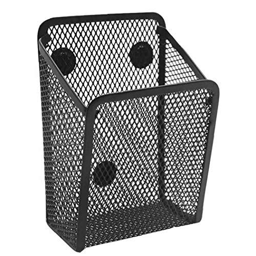 Ohomr Productos de Ordenamiento Locker Accesorios de Malla metálica del lápiz Multifuncional para la Seguridad del Almacenamiento Negro