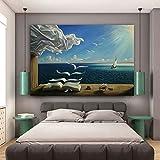 Salvador Dali lienzo arte impresión cartel The Waves Book Velero cuadro diario pinturapara sala de estar decoración de la pared del hogar 60x90cm (23.62x35.43in) sin marco