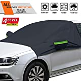 OMIGAO Extra Large Windshield Snow Ice Cover with Side Mirror Covers, Protects Windshield and Wipers from Weatherproof, Rain, Sun, Frost, Vehicles, Cars Trucks Vans and SUVs (94.5' x 65')