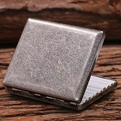 YYSSLL Caja de Cigarrillos metálicos Cubierta de Cobre Puro Caja de Cigarrillos Ultra-Delgada Portátil 20 Cigarrillos Anti-extrusión y Salpicaduras (Color : B)