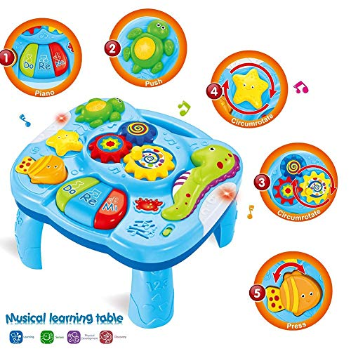 Amazing Deal Motyy Toddlers Safe Play Colorful Funny Gift Light Music Game Learning Table Activity S...