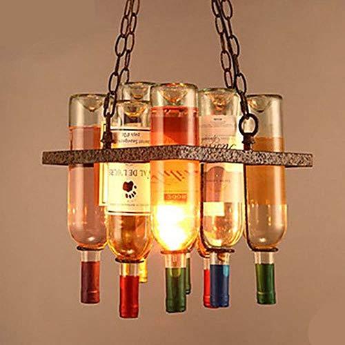 DC Wesley Iluminación Colgante Retro Creativo Diseñador Vino Botella Araña Restaurante Bar Café Personalidad Bar Mesa Sala De Estar Bar Arte Araña
