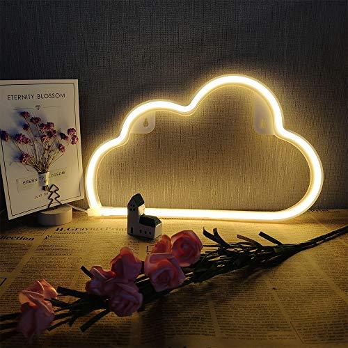 Warm White Cloud Neon-Licht LED-Wolke Zeichen formen Dekor Licht-Batterie und USB Operated Neon Lights Wand-Dekor-Neonzeichen für Kinder Baby-Raum-Schlauch-Bar-Hochzeitsfest