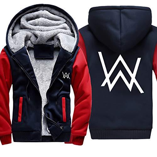 YaNanHome Geben Sie Einen Warmen Schal, Einen PlüSch-Verdickten Kapuzenpulli, Eine Warme Kapuzen-Kapuzenjacke, Einen üBergroßEn Pullover Und EIN Fleece-Sweatshirt Der Alan Walker-Serie Plus/A/M