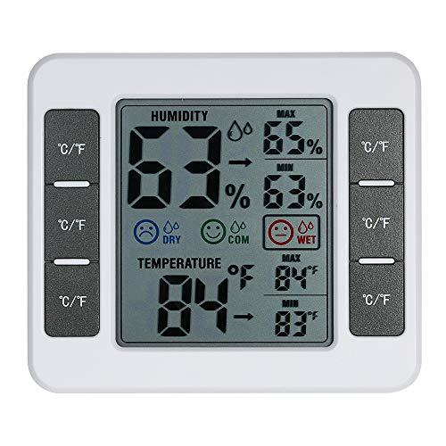 KKmoon Termometro Igrometrico da Interno LCD Termometro ℃ / ℉ Termometro da Interno Misuratore di Umidità con Termoigrometro