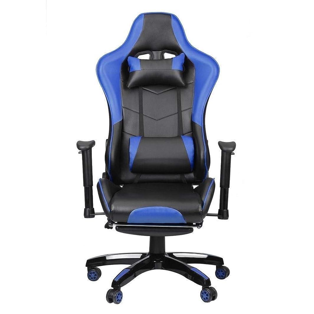 警官コテージ連隊コンピュータゲームの椅子、 ヘッドレスト腰椎枕とE-スポーツ議長レーシングオフィスチェア人間工学に基づいたデザイン背もたれ高さ調節可能あなたが支援的非常に快適で完璧な気持ちにさせます