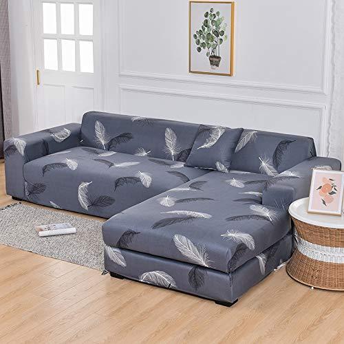 WXQY Funda de sofá Chaise Longue Funda de sofá de Sala de Estar Funda de sofá elástica Todo Incluido a Prueba de Polvo Funda de sofá en Forma de L A14 1 Plaza