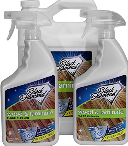 Black Diamond Stoneworks Wood & Laminate Floor Cleaner: for Hardwood, Real, Natural & Engineered Flooring –Biodegradable Safe for Cleaning All Floors (1 Gallon/2 quarts)