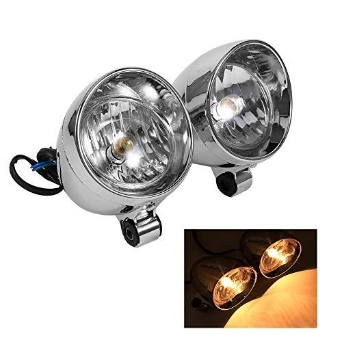 Faros delanteros LED para motocicleta, faros antiniebla