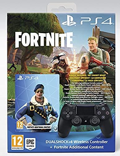 Sony Mando Dualshock Negro V2+ Extra Fortnite