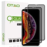 OTAO Privacy Screen Protector for iPhone 11 Pro Max/iPhone Xs Max 6.5 Inch True 28°Anti Spy Tempered Glass Full-Coverage (2-Pack)