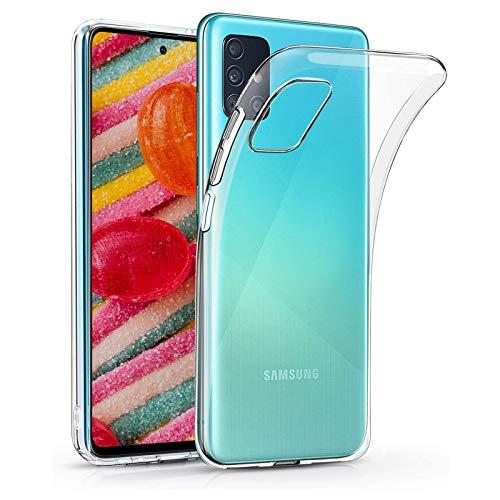 Funda de TPU transparente Wallet funda de piel con función atril tarjetero y espacio para dinero en efectivo (Samsung Galaxy A71 5G)