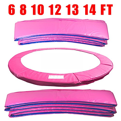 Greenbay 10FT 305cm Premium Replacement Trampoline Surround Pad | UV resistant PVC top | EPE foam(thickness:15mm, width:300mm) | Safety Guard Spring Cover Padding Pads Pink for 8 poles Trampoline
