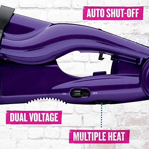 Bed Head Wave Artist Ceramic Deep Hair Waver for Beachy Waves, Purple