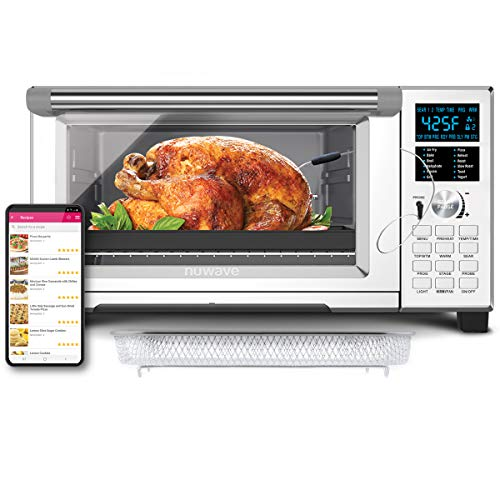 NuWave Bravo XL Smart 1800-watt Convection Oven with Integrated Digital Temperature Probe & Flavor Infusion Technology