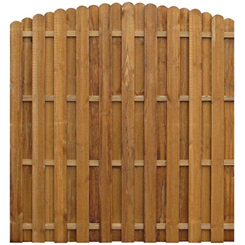 vidaXL Panneau de clôture 170 x (156-170) cm Pinède
