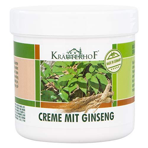 La crème corporelle Kräuterhof® au ginseng et au beurre de karité convient à tout type de peau 250 ml