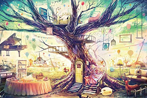 Jigsaw Puzzle 1000 Piece for Adults Kids Puzzles, 3-D Puzzles Teens DIY Home Entertainment Toys Jigsaw Puzzles Intellectual Paintings Puzzle Game Toys Home Decor Dream Tree House
