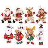 Flysee 8Piezas Adornos árbol Navidad Colgantes Muñecos Papá Noel Ornamentos de Navidad...