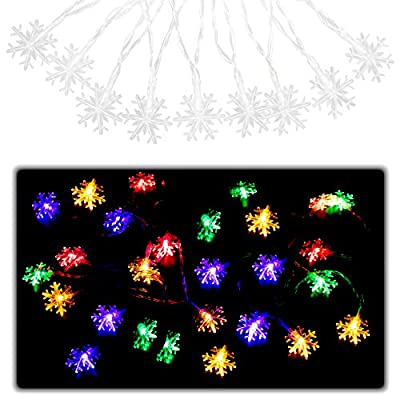 Hensun LED String Lights, 6.6feet 10 LED Colored Christmas Light Indoor,Bedroom,Curtain,Patio,Lawn,Landscape,Fairy Garden,Home,Wedding,Holiday,Christmas Tree,Party