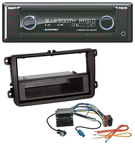 caraudio24 Blaupunkt London 470 DAB BT USB DAB MP3 CD Bluetooth Autoradio für Skoda Praktik/Superb/Yeti