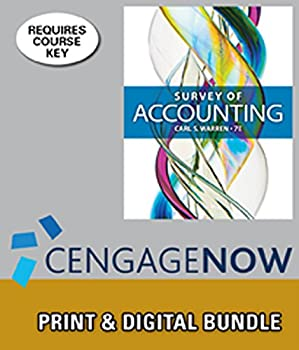 Survey of Accounting [with CengageNOW Access Code] 1305134303 Book Cover