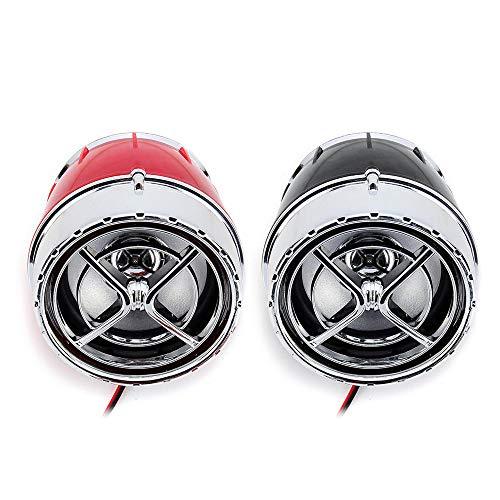 GNY Bocina eléctrica Pair 12V Motorcycle Player MP3 Player App Control Alarm FM Wireless con función Bluetooth (Color : Red)