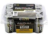 Rayovac Batteries ALC-12PPJ UltraPro Industrial Alkaline Battery, C Size, Standard, Black (Pack of 12)