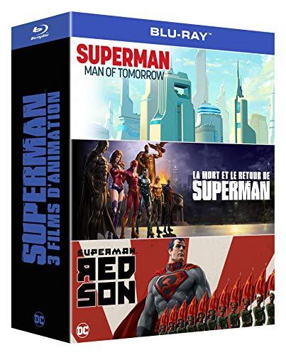 3 Films d'animation : l'homme de Demain + La Mort et Le Retour de Superman + Red Son [Blu-Ray]