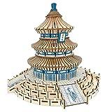 ZSH Rompecabezas tridimensional de madera 3D, juguetes modelo de construcción, casa de rompecabezas de madera DIY modelo hecho a mano, para adultos y niños regalos de cumpleaños