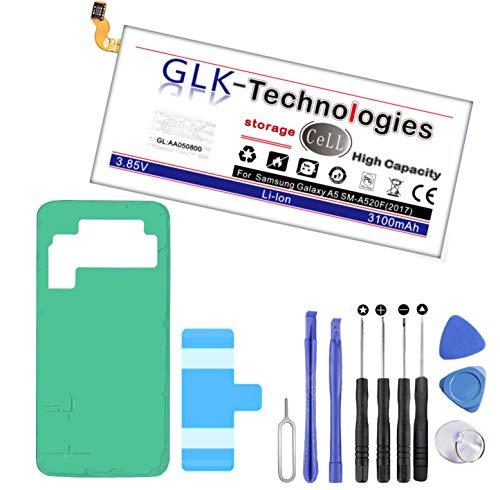 Original GLK-Technologies® High Power | Akku passend für Samsung Galaxy A5 2017 SM-A520F EB-BA500ABE | 3100 mAh // Reparaturset Werkzeug Set 2021 B.j