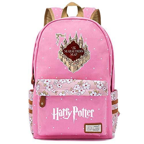 NYLY zaino Harry Potter Hogwarts Rucksack Travel Camping School Borse Donne Fiore Polka Dot Retro Grande S-5