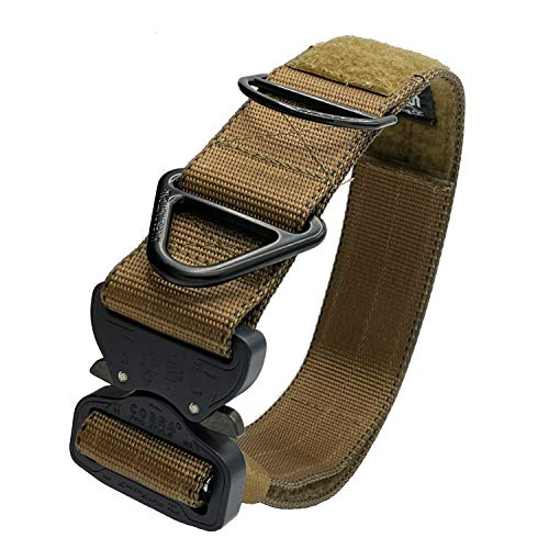 Miles Tactical K9 Cobra Dog Collar for Large Dogs Heavy Duty (Large, Coyote Brown)