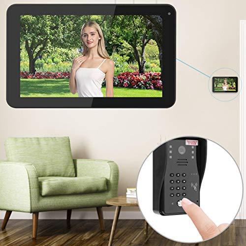 minifinker Timbre Inteligente WiFi Inalámbrico, para Villas(Black)