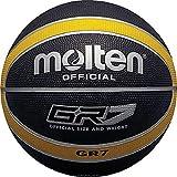 MOLTEN - Balón de Baloncesto (Talla 6), Color Negro y Amarillo