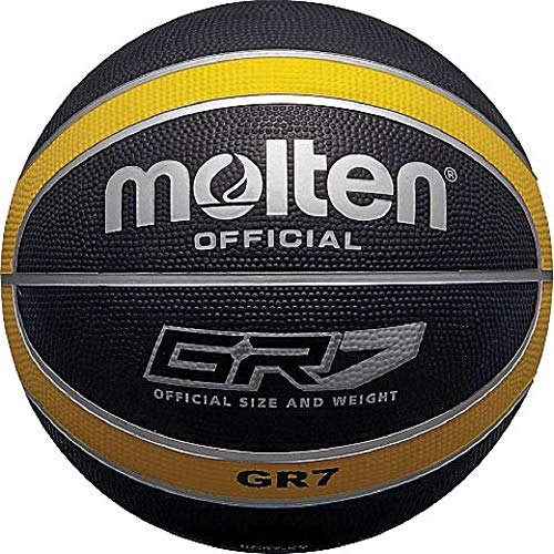 MOLTEN - Balón de Baloncesto (Talla 5), Color Negro y Amarillo